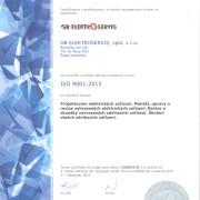 Jsme certifikováni na ISO 9001:2015