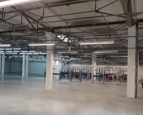 elektro projekt a elektroinstalace výrobní haly